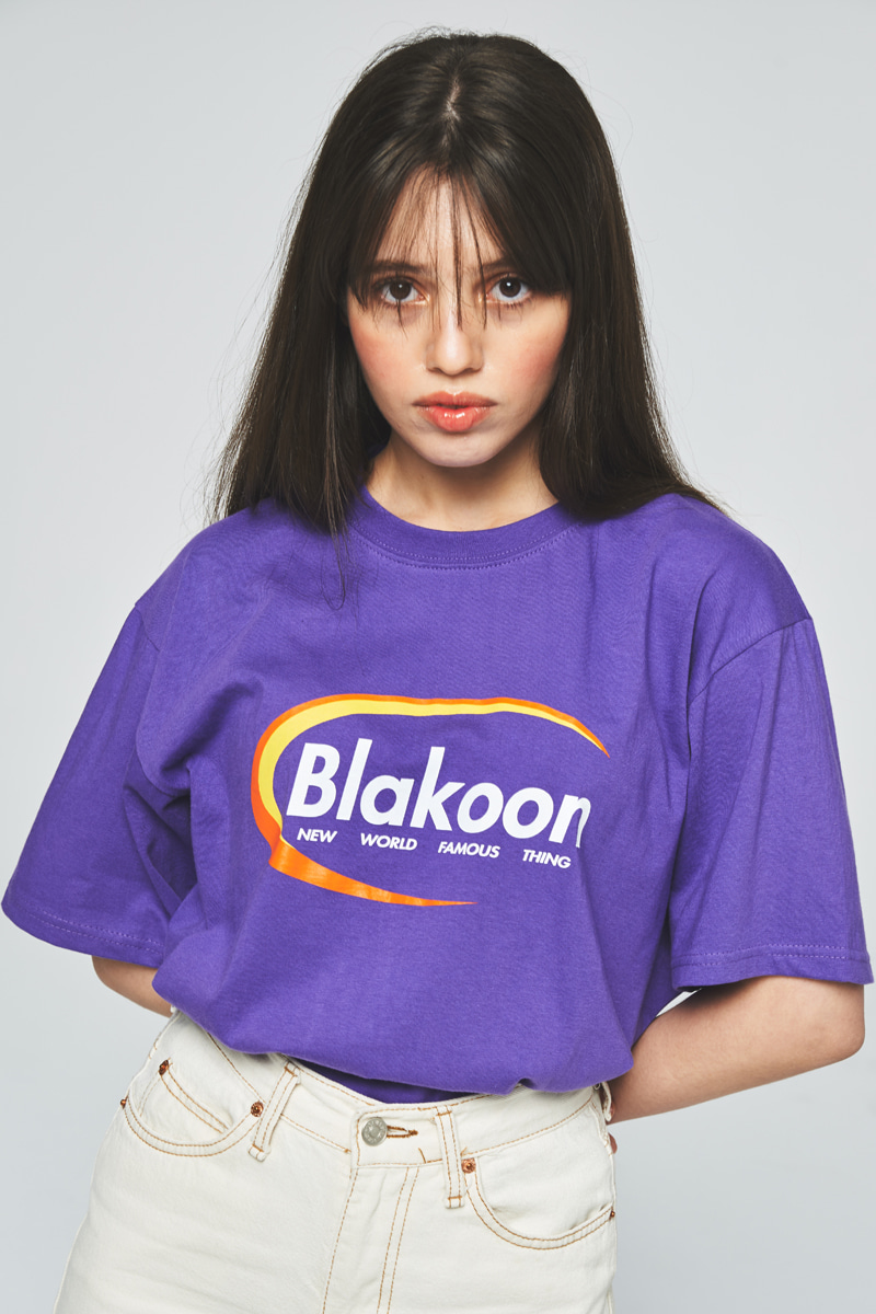 BLAKOON LOGO T-SHIRTS (PURPLE)