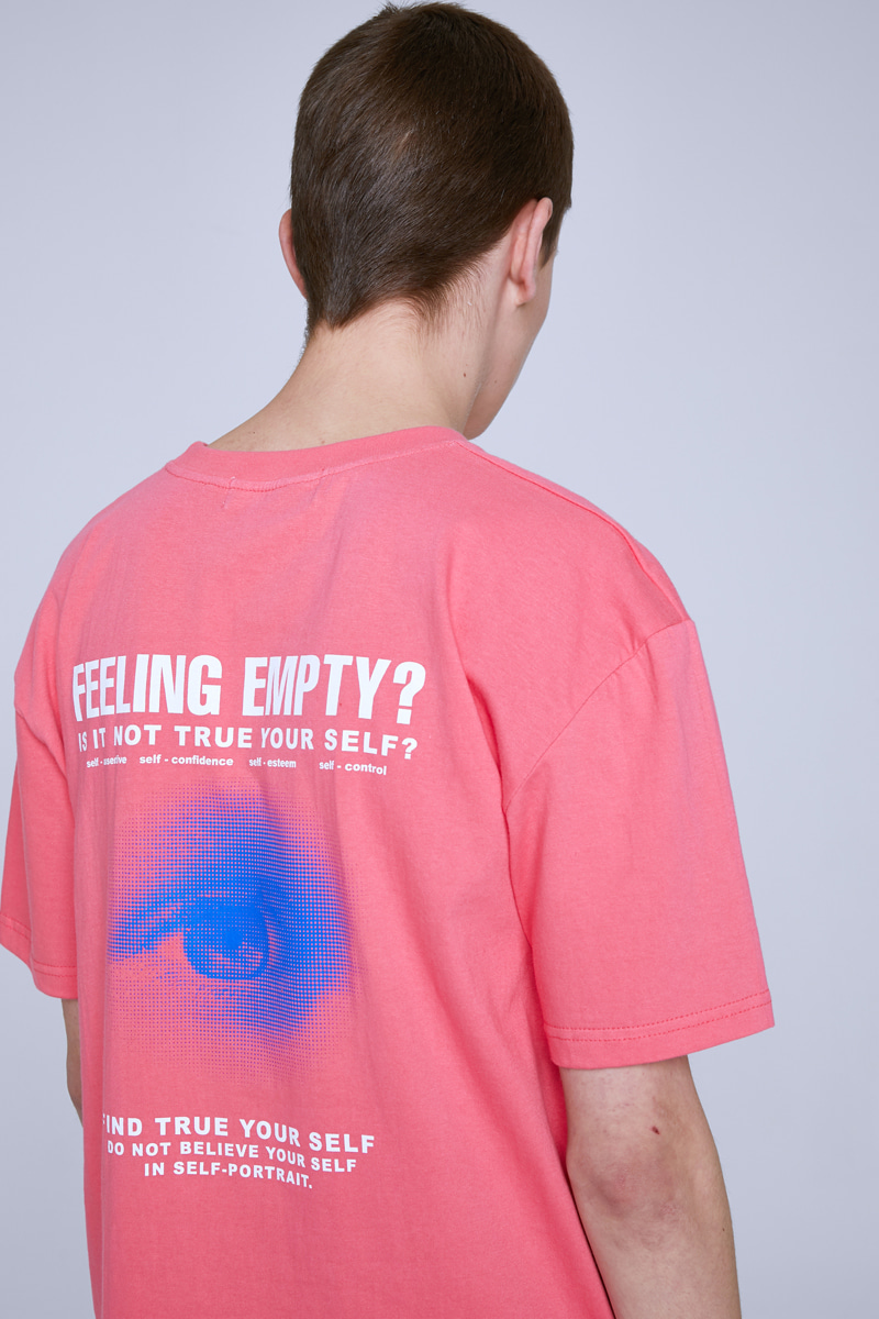 FEELING EMPTY T-SHIRTS (CORAL)