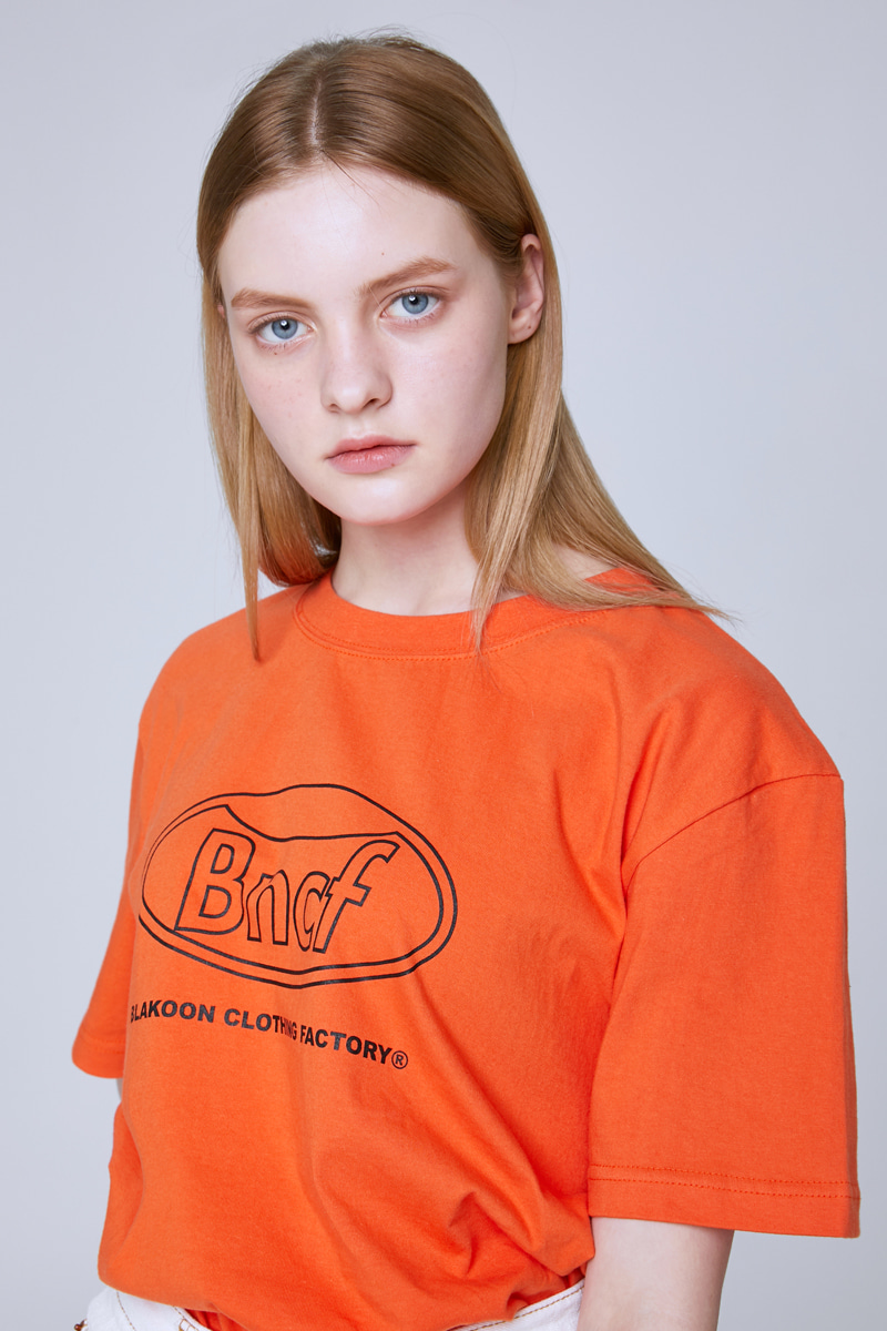 BNCF CIRCLE LOGO T-SHIRTS (ORANGE)