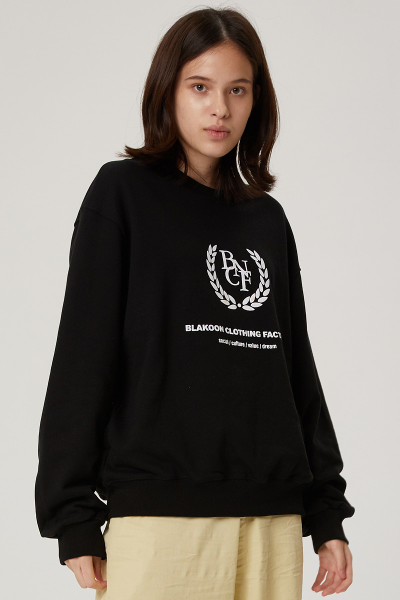 BNCF BIG LOGO SWEATSHIRTS (BLACK)