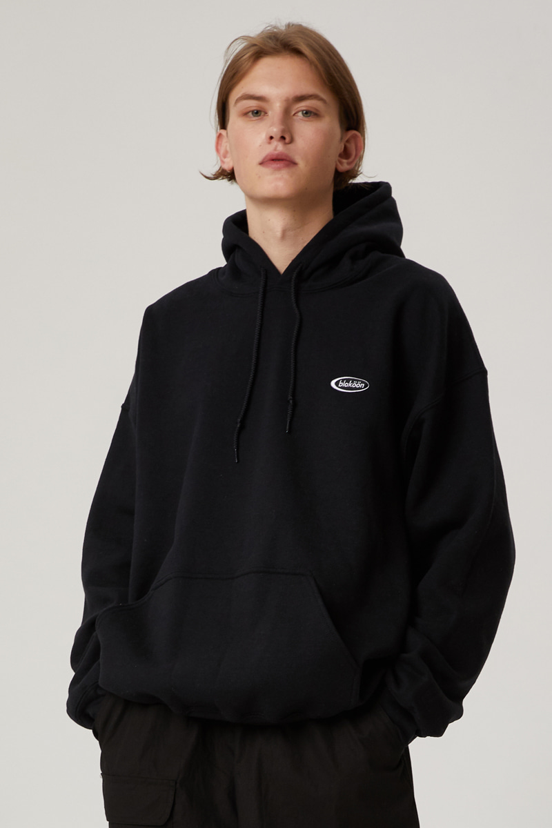 SMALL CIRCLE LOGO HOODIE (BLACK)
