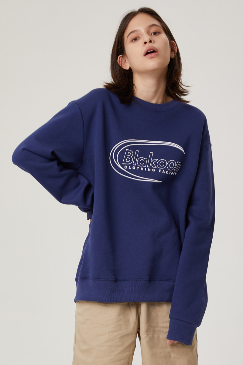 BLANK SIGNATURE LOGO SWEATSHIRTS (MIDNIGHT BLUE)