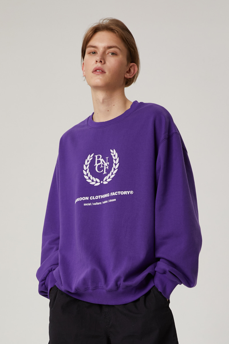 BNCF BIG LOGO SWEATSHIRTS (PURPLE)