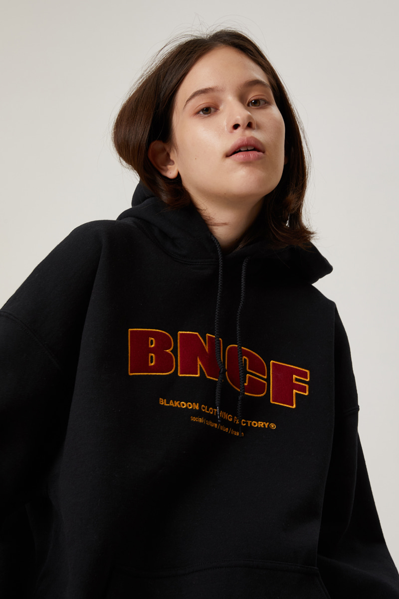 BNCF PATCH WORK HOODIE (BLACK)