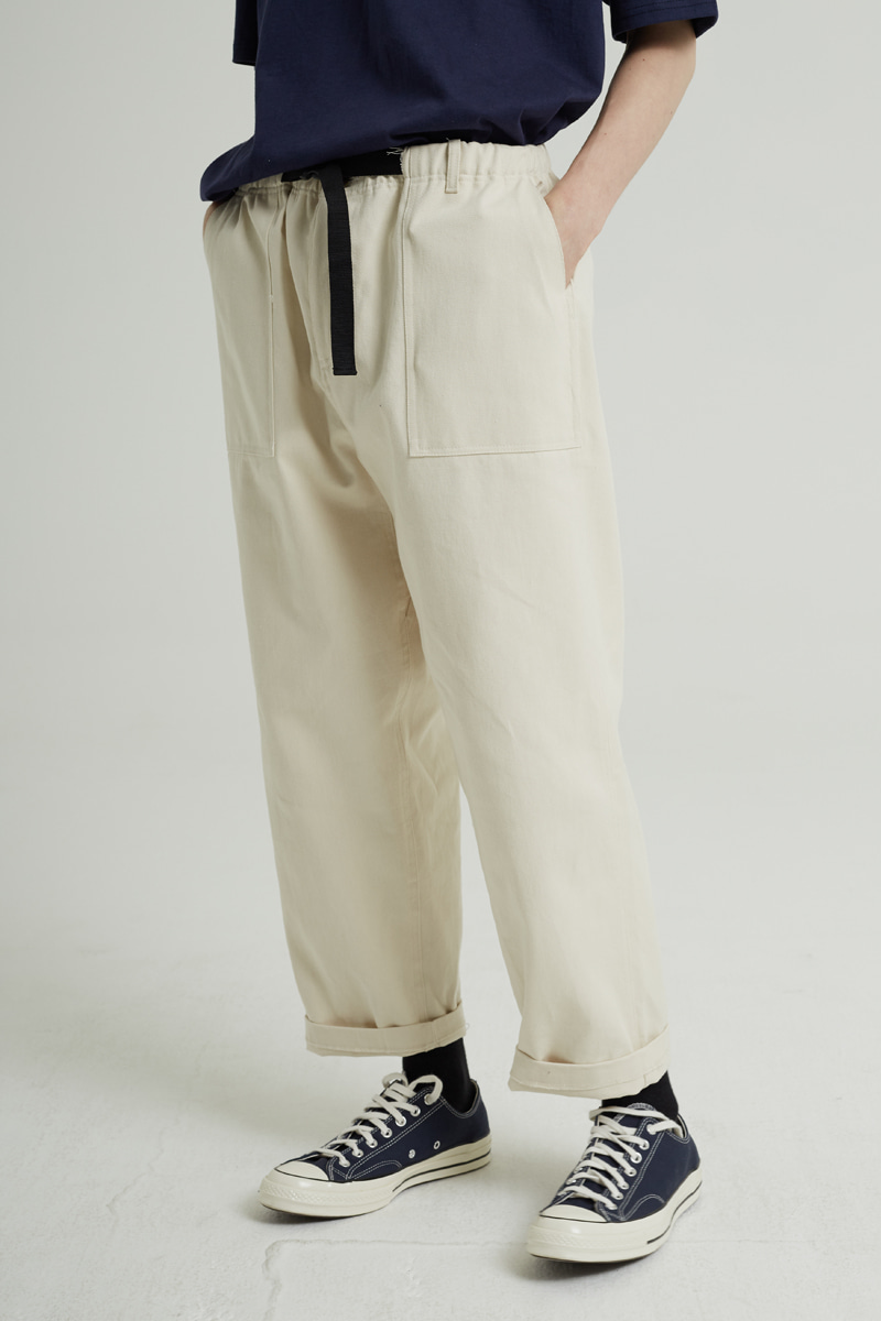BELT FATIGUE PANTS (IVORY)