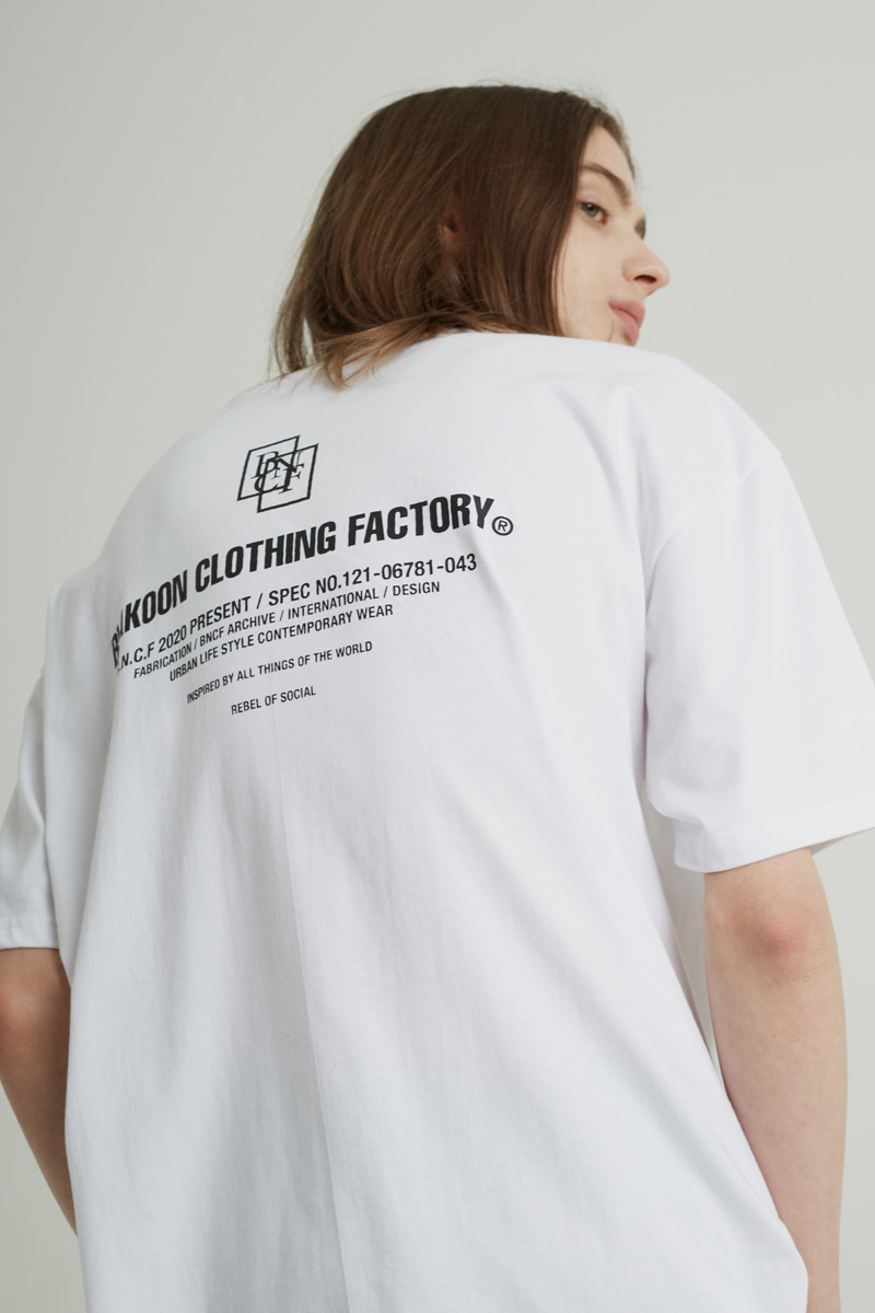 BACK LETTERING T-SHRITS (WHITE)