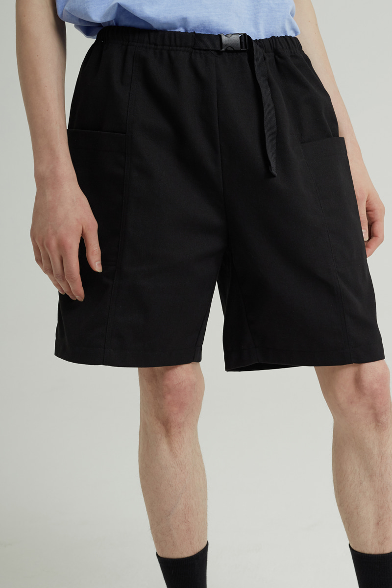 BANDING POKET HALF PANTS(BLACK)
