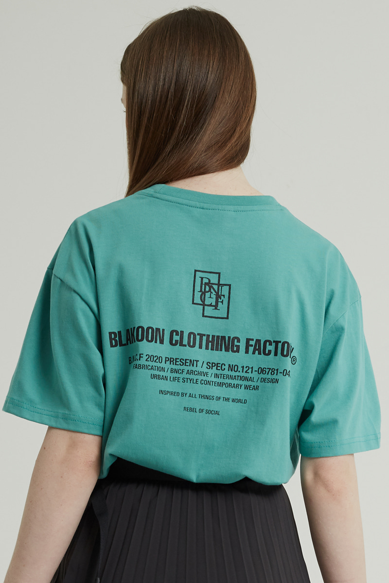 BACK LETTERING T-SHRITS (MINT)