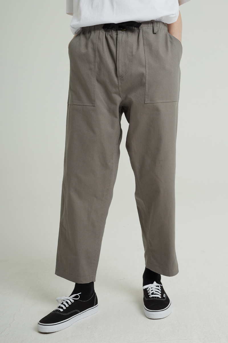 BELT FATIGUE PANTS (GREY)