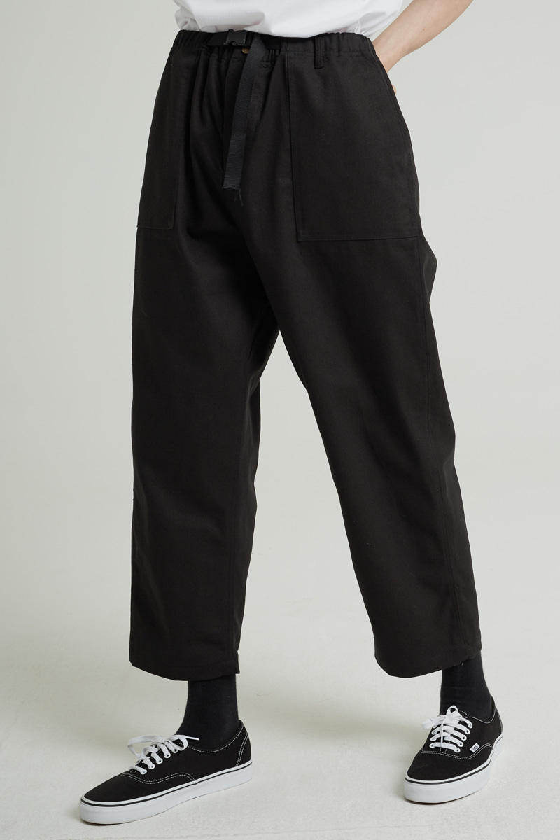 BELT FATIGUE PANTS (BLACK)