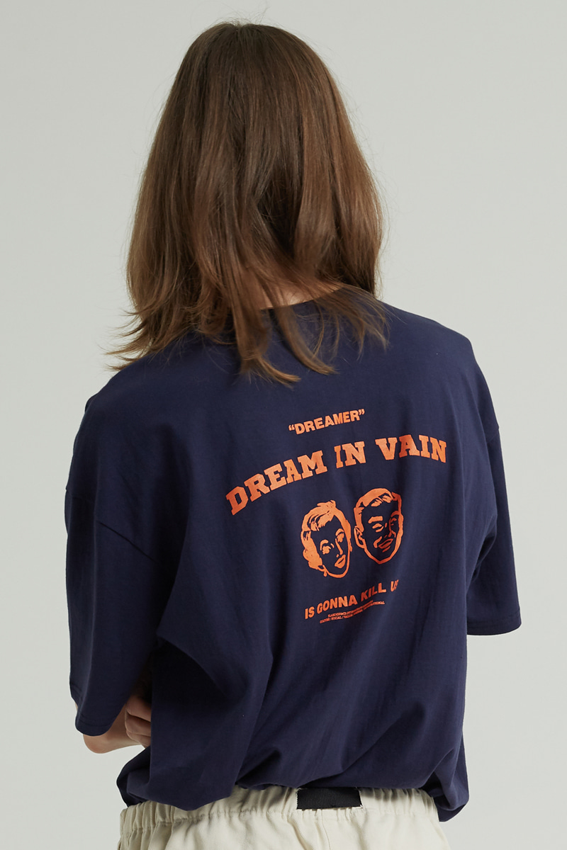 DREAM IN VAIN T-SHIRTS (NAVY)