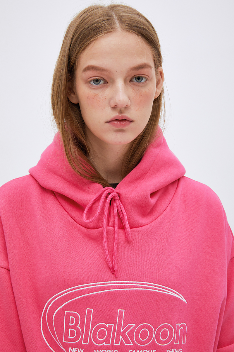 NEEDDLE WORK LOGO HOODIE (PINK)