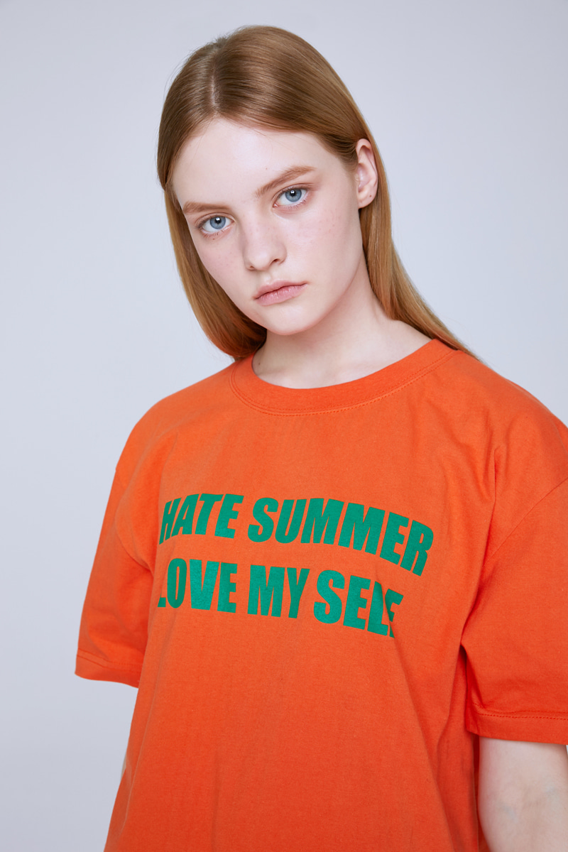 HATE SUMMER T-SHIRTS (ORANGE)