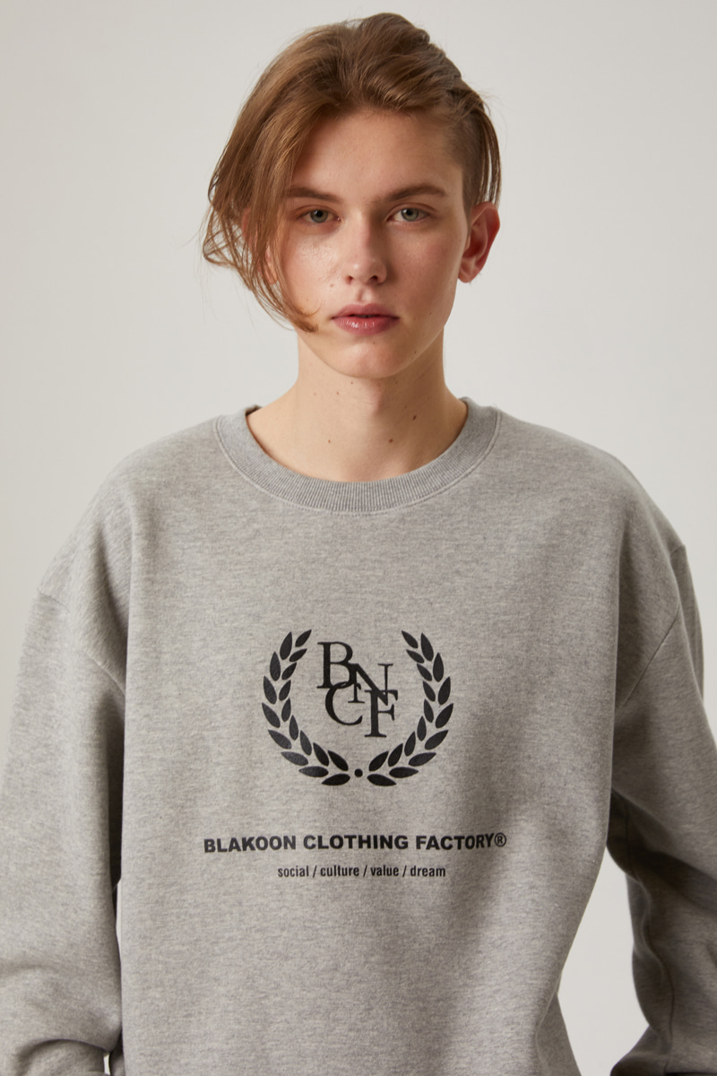 BNCF BIG LOGO SWEATSHIRTS (GREY)