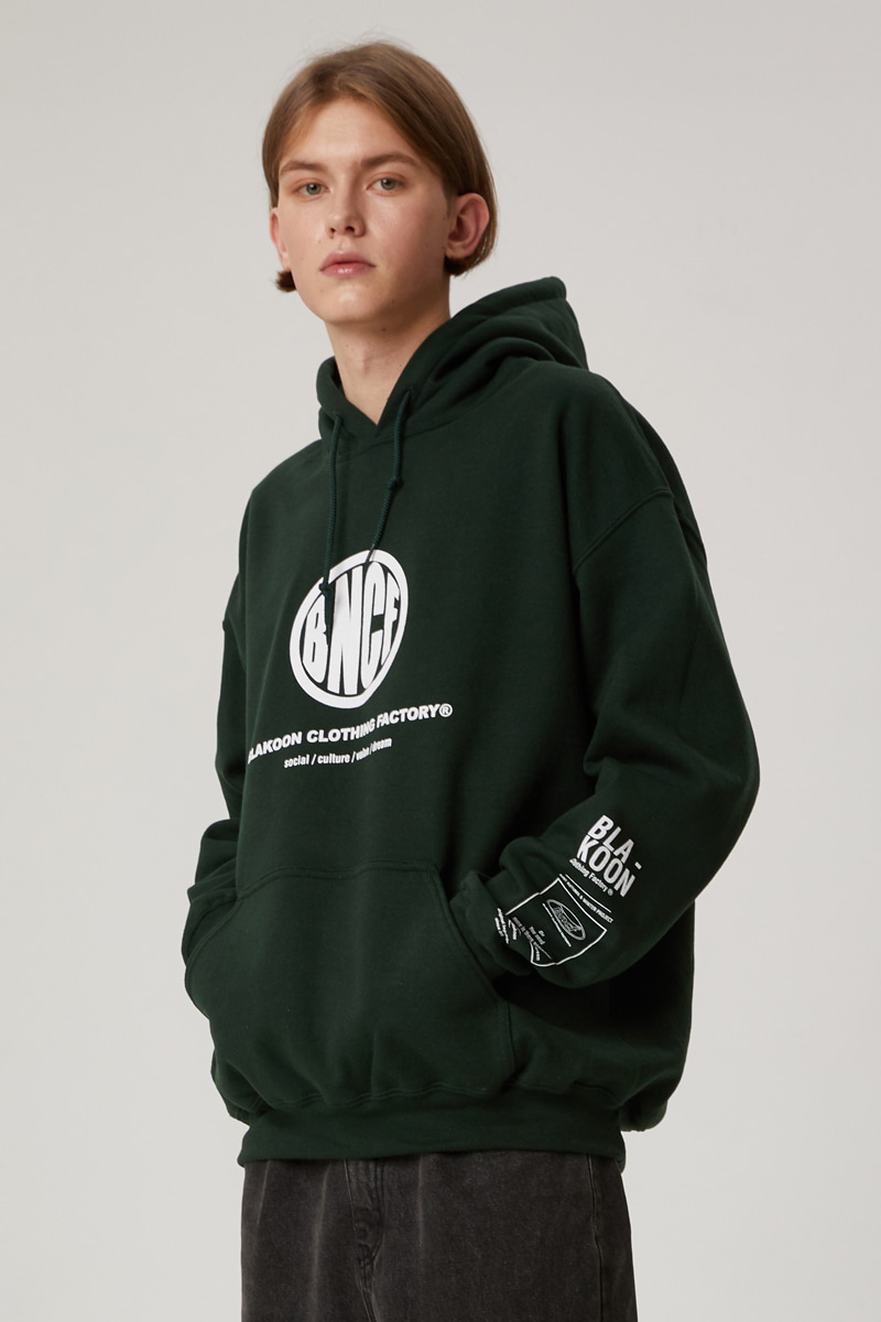 BNCF PERFECT CIRCLE LOGO HOODIE (DEEP GREEN)