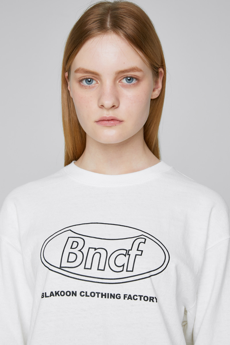 BLKN CIRCLE LOGO T-SHRITS (IVORY)