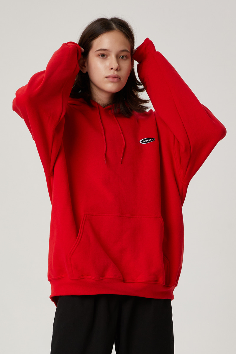 SMALL CIRCLE LOGO HOODIE (RED)