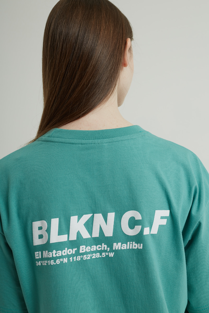 BLKNCF MALIBU T-SHIRTS (BEACH GREEN)